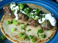 LEBANESE RECIPES: Lamb Meatball Gyros With Yogurt and Mint - Real Si...