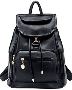coofit sac dos femme loisir en cuir sac college fille cartable dcole sac