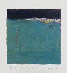 "June 12, 2018 9 cm x 9 cm (app. 4"" x 4"") oil on canvas © 2018 Hiroshi Matsumoto www.hiroshimatsumoto.com"