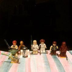 """""""Star Wars ... #starwars #lego #starwarslego #obiwankenobi #yoda #c3po #r2d2 #lukeskywalker #leiaorgana #hansolo #chewbacca"""" Photo taken by @meddiejusuf on Instagram, pinned via the InstaPin iOS App! http://www.instapinapp.com (01/18/2015)"""