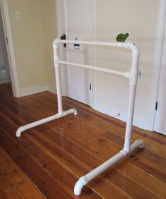 DIY Ballet Barre from PVC for less than $15...I want to do something similar to hold backdrops for pictures when we have kids