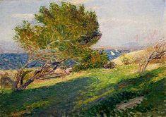 Coast of Brittany, 1886 by Willard Metcalf. Impressionism. landscape