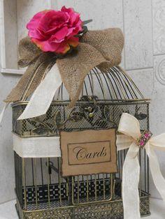 decorative birdcage for wedding | Rustic / Shabby Chic Decorative Birdcage Wedding by YesMoreFunk, $66 ...