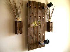 Wine Rack Rustic Reclaimed Barn Wood Riddling by TheBarnYardShop, $69.00
