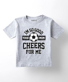 This classic, casual cut features a playful soccer graphic that young athletes and sports fans are sure to get a kick out of. Toddler Soccer, Soccer Shirts, Vinyl Projects, Graphic Shirts, Mommy And Me, Soccer Stuff, Athletic, T Shirts For Women, Tees