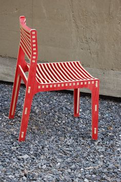 CNC routed chair, designed and built by Noel Davis '06. Photo: Noel Davis