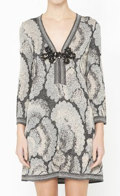 M Missoni Grey, Pink And Multicolor Dress