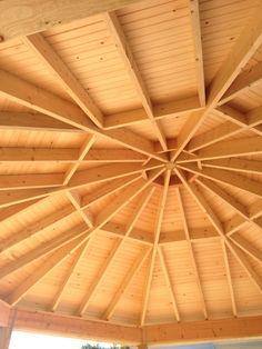 Cool ceiling for your Hot tub gazebo http://gazebokings.com/building-your-own-garden-hot-tub-gazebo/