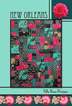 This pattern makes a X quilt. This is a very easy, fun quilt to make. This is a beautiful Pattern from Villa Rosa Designs. Their patterns are easy to use & inexpensive to buy. Card Patterns, Quilt Patterns, Layer Cake Quilts, Layer Cakes, Villa Rosa, Cat Quilt, Michael Miller Fabric, Quilt Sizes, Design Studio