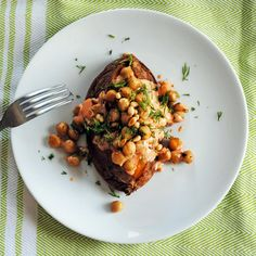 Sweet Potatoes with Smoky Yogurt and Chickpeas