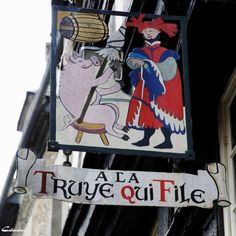 """""""The sow who spins…"""" Dinan, France, Brittany"""