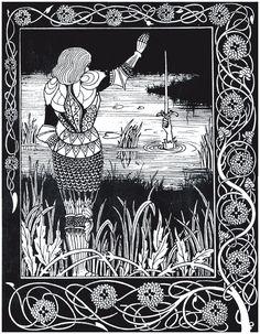Beardsley Illustrations for 'Le Morte d'Arthur'   headbugz