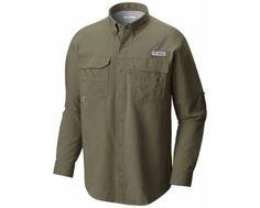 Columbia Men's MRO Logo PFG Blood and Guts™ III Long Sleeve Woven Shirt