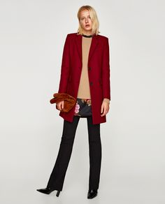 ZARA - WOMAN - TWO-BUTTON MASCULINE COAT