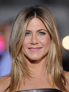 Jennifer Aniston Hair.  Color balance between dark blonde and light brown.
