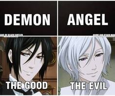 It isn't that straightforward though. The only 'good' demon, really is Sebastian and as far as we know the only corrupt angel is Ash/Angela