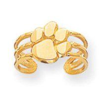 14k Gold Collegiate Clemson University Toe Ring Real Goldia Designer Perfect Jewelry Gift for Christmas