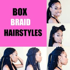 Box Braid Styles [Video] - http://community.blackhairinformation.com/hairstyle-gallery/braids-twists/box-braid-styles-video/