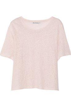 Acne Studios Wonder slub-linen T-shirt   NET-A-PORTER