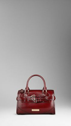 Medium Bridle Leather Bowling Bag | Burberry