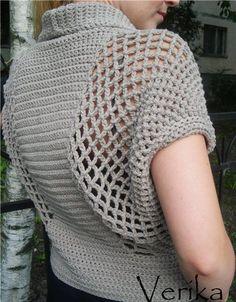 Impressive crochet blouse
