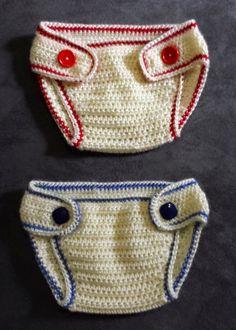 365 Crochet: Baby Sport Diaper Cover -free crochet pattern-
