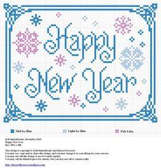 Happy New Year cross stitch pattern