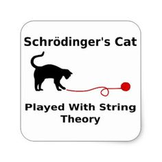 Shop for the perfect schrodingers cat played with yarn gift from our wide selection of designs, or create your own personalized gifts. Fat Cat Tattoo, Art Illustrations, Illustration Art, Schrodingers Cat, String Theory, Smarty Pants, Fat Cats, Black Cats, Science