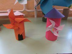 Játékos tanulás és kreativitás: Szakköri munkáink: Szélmalom, ház papírgurigából