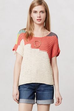 Alva Chrome Top from sir sir by correll correll at Anthropologie $98.00 #colorwork