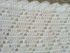 White crochet christening baptism baby blanket boy by jesjaymat