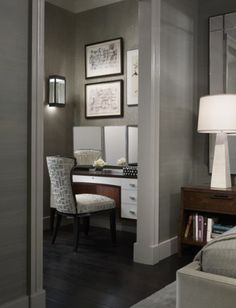 Grey silk wallpaper by Michael Abrams Limited