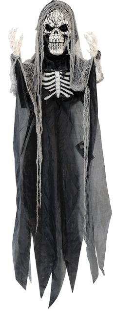 Enchanting REAPER LIGHTUP 6FT. Breathtaking array of Scary, Gothic & Vampire Wall Hangings for Halloween at CostumePub. Scary Halloween Decorations, Halloween Home Decor, Halloween House, Halloween Costumes For Kids, Vampire Party, Zombie Head, Scary Kids, Morris Costumes, Clown Mask