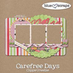 Carefree Days, Winner & Freebie! - Blue Heart Scraps
