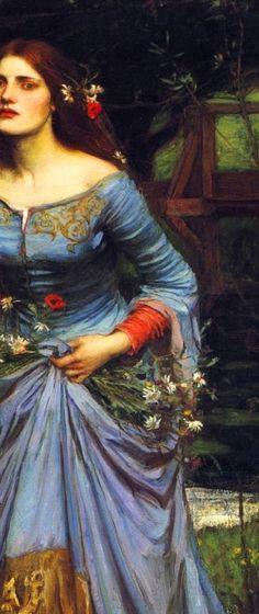WATERHOUSE, John William (1849–1917)  Ophelia, detail 1894