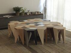 Rayuela Stool... Alvaro Catalán de Ocón City Furniture, Furniture Design, Tile Design, Design Art, Traditional Tile, Take A Seat, Design Trends, Small Spaces, Cool Designs