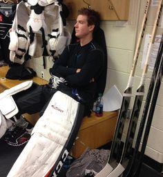 #35 Steve Mason of the Philadelphia Flyers. He's my hottie cold goaltender ;)