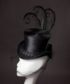 TuxedoChic 'Una' Mini Top Hat by HouseofNinesDesign on Etsy, $425.00