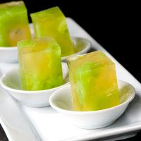 Polyjuice Potion Jelly Shots (pineapple juice, ginger ale, pineapple vodka, lime sherbet)