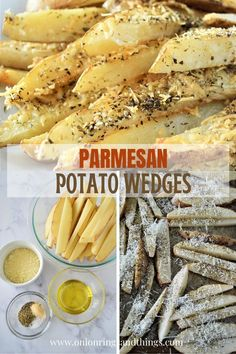 Baked Parmesan Potato Wedges are golden, crisp, and loaded with delicious Parmesan and garlic flavors yet baked for a less-guilt snacking! #snacks #appetizer #potatorecipes #sidedish
