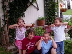 Boys and their cousins at aunt jeans house, After grandmas funeral!
