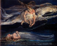 William Blake Pity Painting Reproduction Art On Canvas