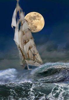 Singladura bajo el influjo de la luna