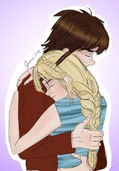 Hiccstrid Hug for Axon by Jenni41.deviantart.com on @DeviantArt