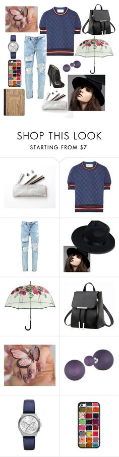 """Untitled #916"" by yasm-ina ❤ liked on Polyvore featuring Gucci, Vera Bradley, Anne Klein and DKNY"