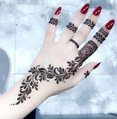 50 Most beautiful Tokyo Mehndi Design (Tokyo Henna Design) that you can apply on your Beautiful Hands and Body in daily life. Rose Mehndi Designs, Latest Henna Designs, Henna Tattoo Designs Simple, Finger Henna Designs, Henna Art Designs, Mehndi Designs For Beginners, Mehndi Designs For Girls, Unique Mehndi Designs, Mehndi Designs For Fingers