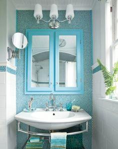 La salle de bains prend des couleurs | Turquoise and House