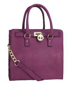 Love this Purple Plora Shoulder Bag by MKF Collection on #zulily! #zulilyfinds