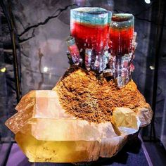 """This is the famous """"Steamboat"""" tourmaline mineral specimen from the Tourmaline King mine in the Pala District of San Diego County, California. Photo by Duncan Pay.   Photo: courtesy The Smithsonian Institution"""