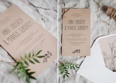 Simple DIY rustic wedding invitation and envelope liners | free printable on Best Day Ever